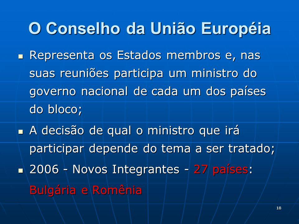 O Conselho da União Européia
