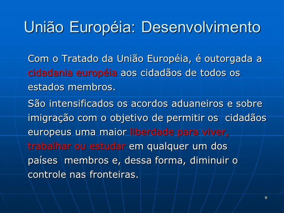 União Européia: Desenvolvimento
