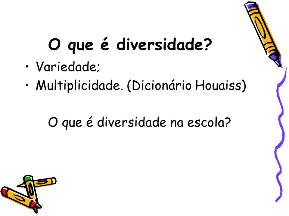 O que é diversidade Variedade; Multiplicidade. (Dicionário Houaiss)