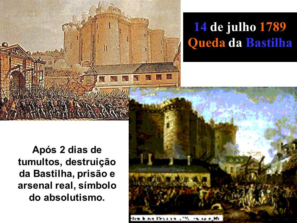 14 de julho 1789 Queda da Bastilha