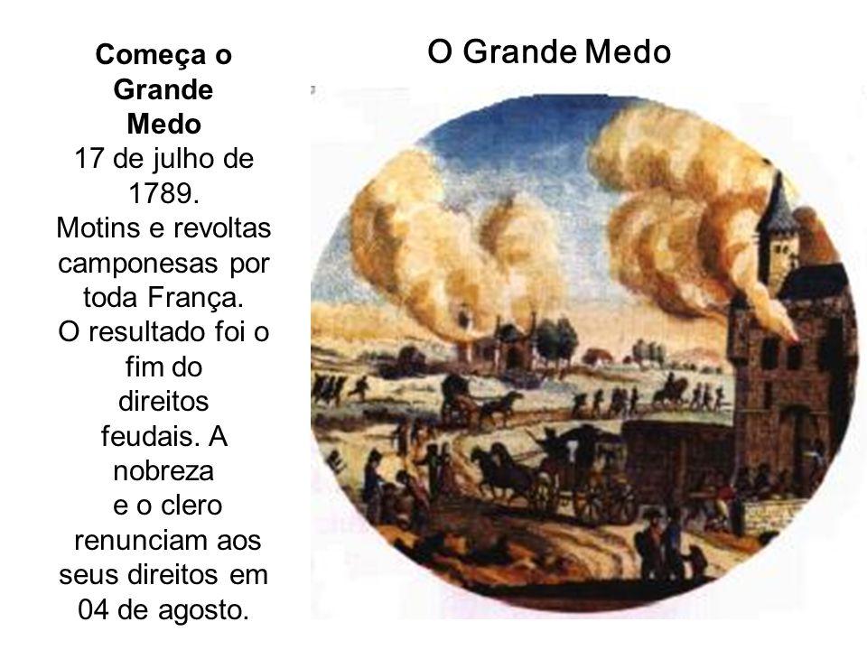 O Grande Medo Começa o Grande Medo 17 de julho de 1789.