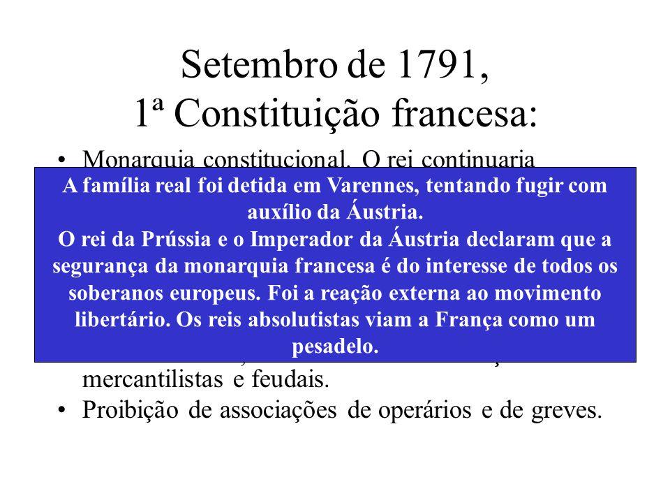 Setembro de 1791, 1ª Constituição francesa: