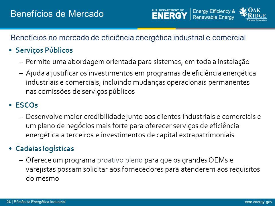 Benefícios de Mercado Benefícios no mercado de eficiência energética industrial e comercial. Serviços Públicos.