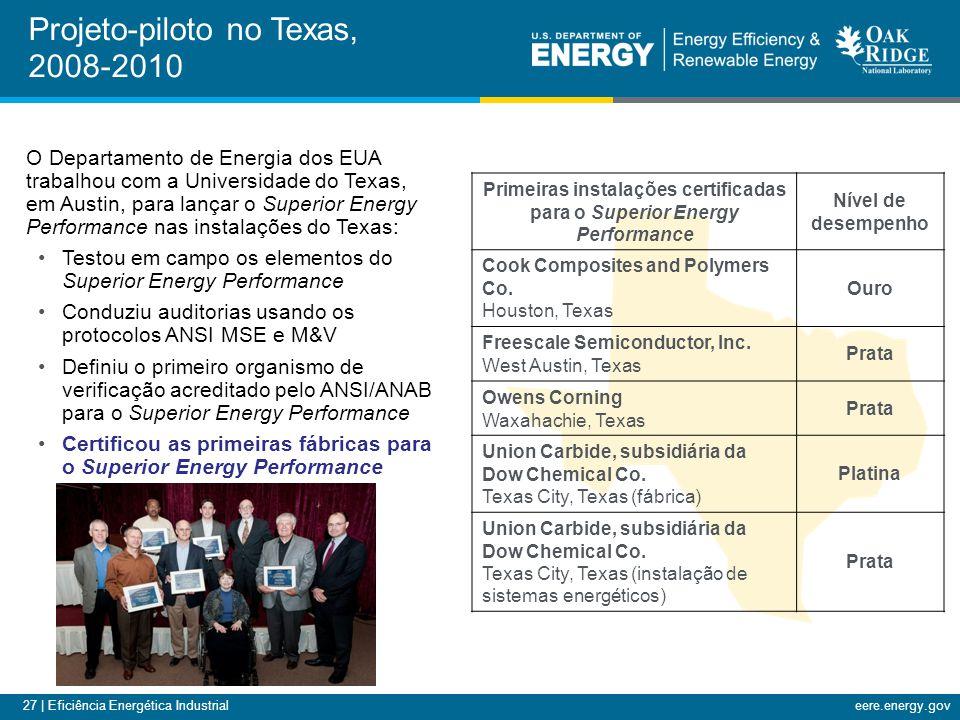 Projeto-piloto no Texas, 2008-2010