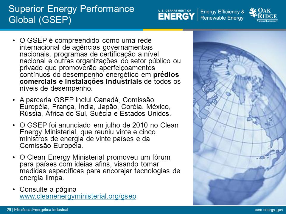 Superior Energy Performance Global (GSEP)