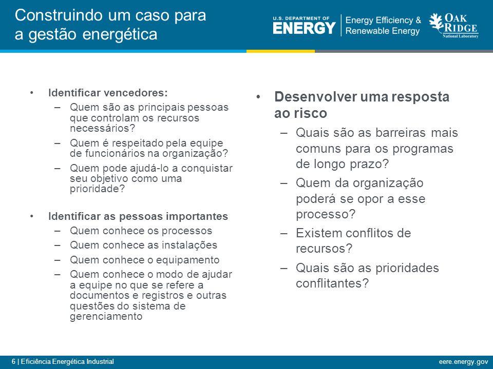Construindo um caso para a gestão energética