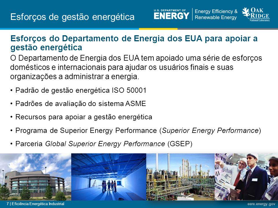 Esforços de gestão energética