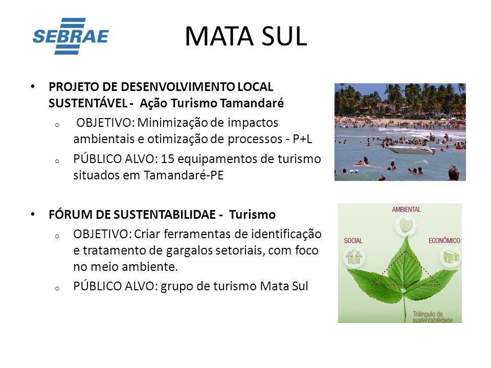 MATA SUL PROJETO DE DESENVOLVIMENTO LOCAL SUSTENTÁVEL - Ação Turismo Tamandaré.