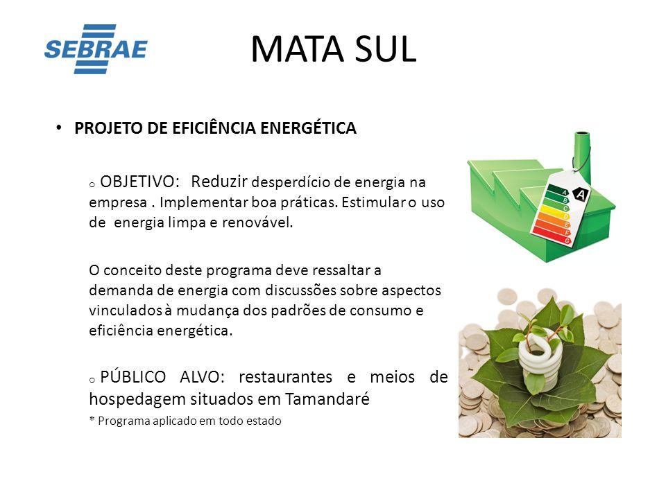 MATA SUL PROJETO DE EFICIÊNCIA ENERGÉTICA