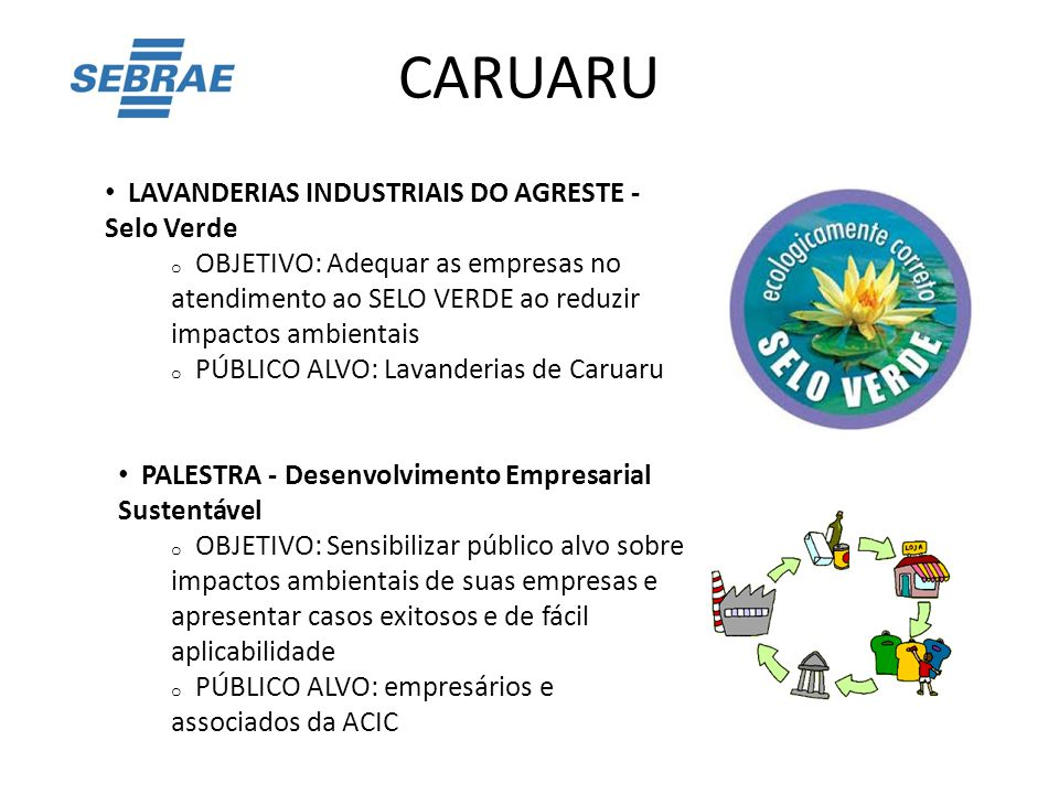 CARUARU LAVANDERIAS INDUSTRIAIS DO AGRESTE - Selo Verde