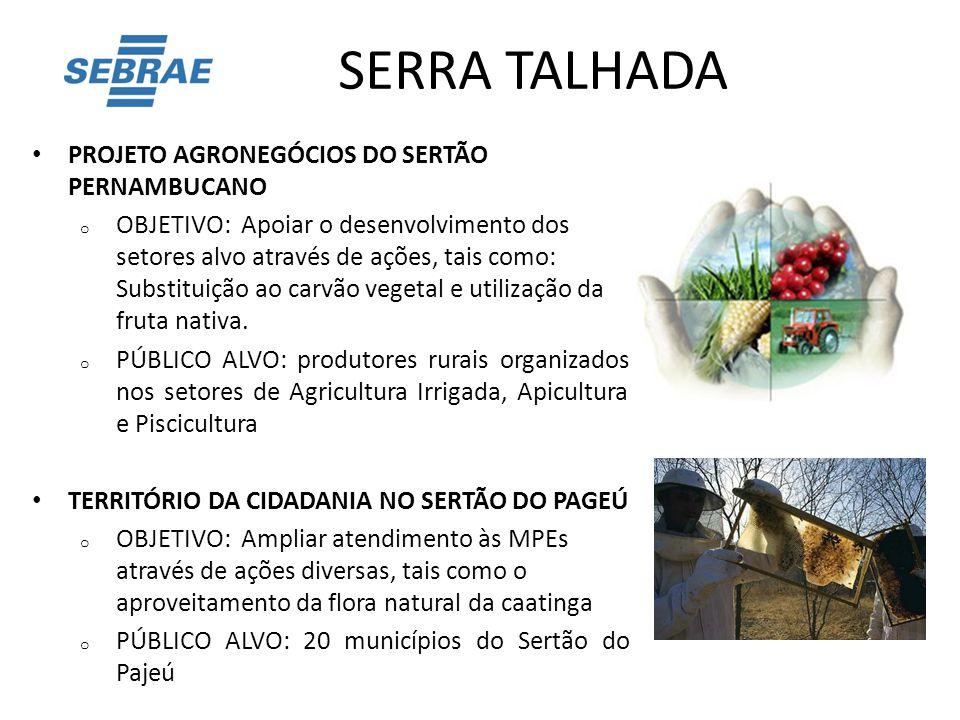 SERRA TALHADA PROJETO AGRONEGÓCIOS DO SERTÃO PERNAMBUCANO