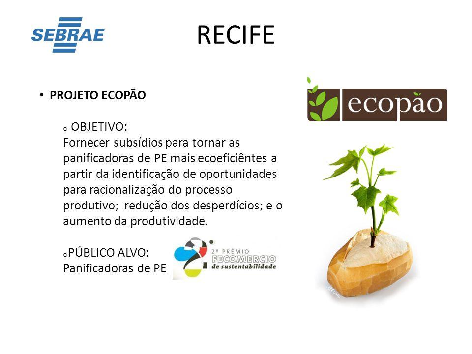 RECIFE PROJETO ECOPÃO OBJETIVO: