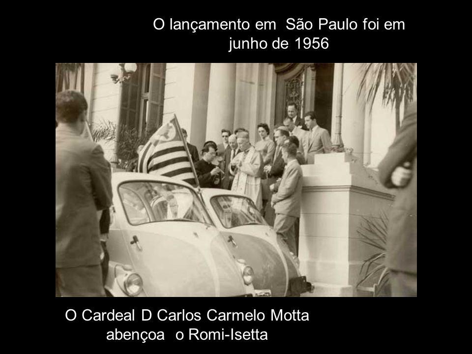O lançamento em São Paulo foi em junho de 1956