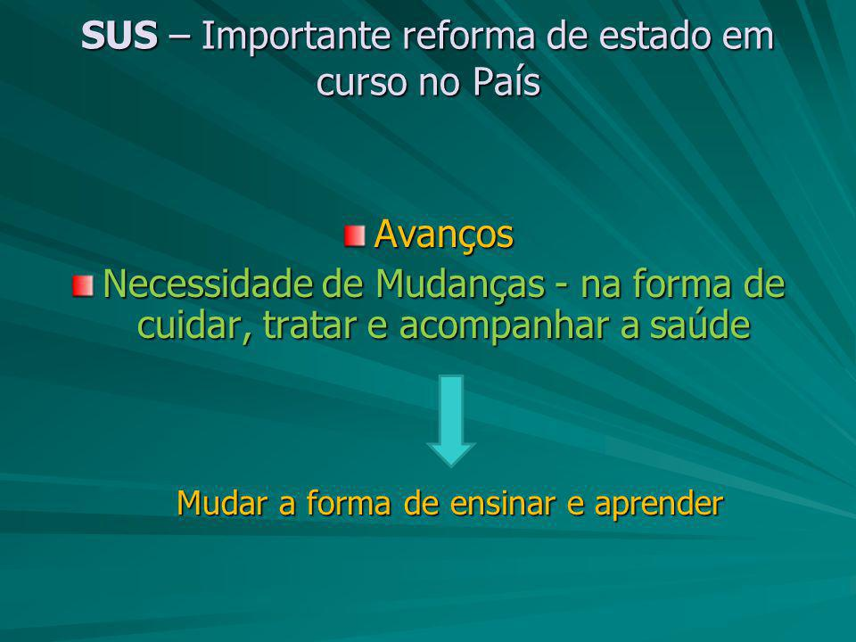 SUS – Importante reforma de estado em curso no País