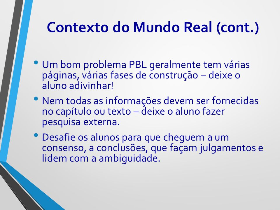 Contexto do Mundo Real (cont.)