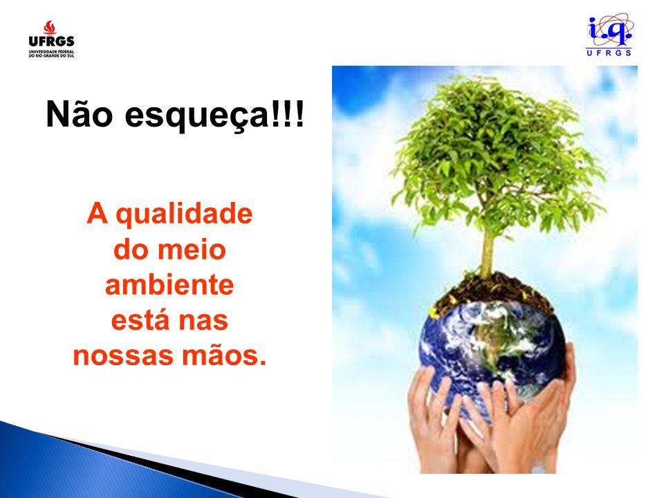 A qualidade do meio ambiente está nas nossas mãos.
