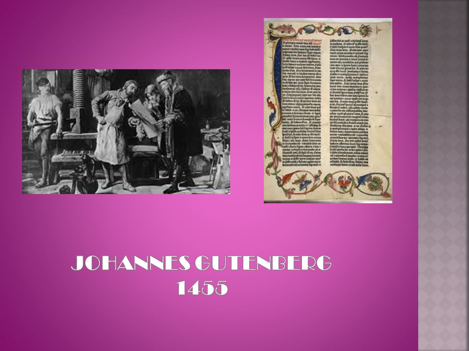JOHANNES GUTENBERG 1455