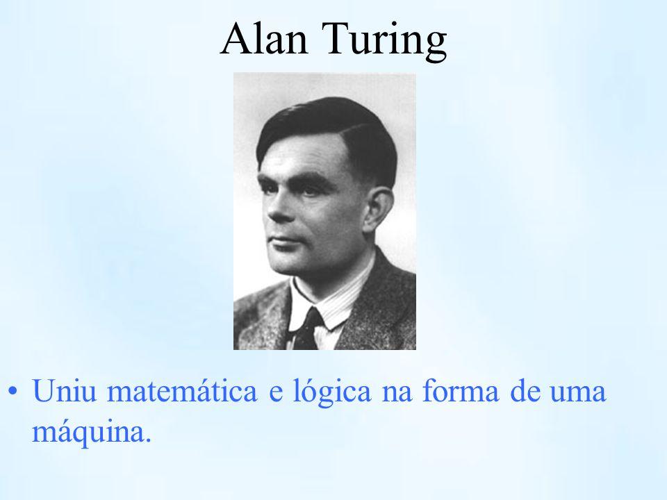 Alan Turing Uniu matemática e lógica na forma de uma máquina.