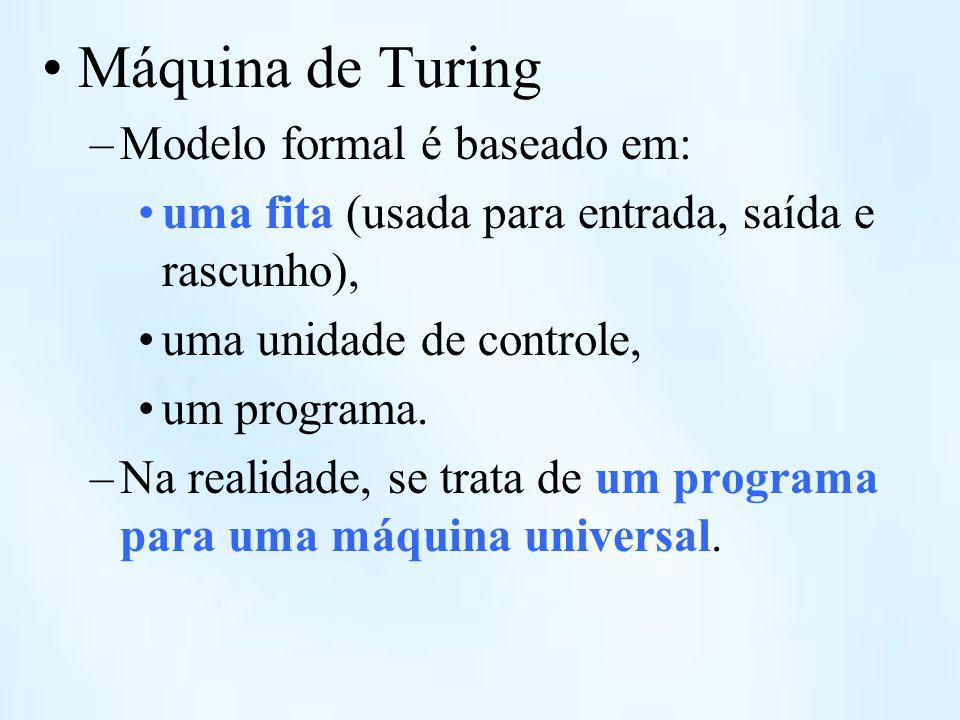 Máquina de Turing Modelo formal é baseado em: