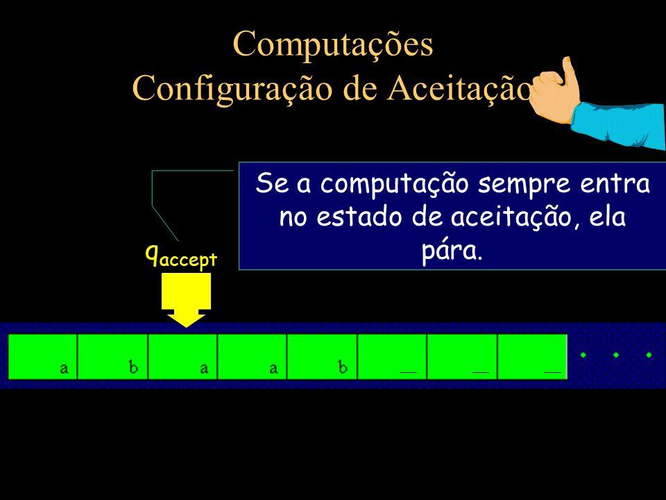Computações Configuração de Aceitação