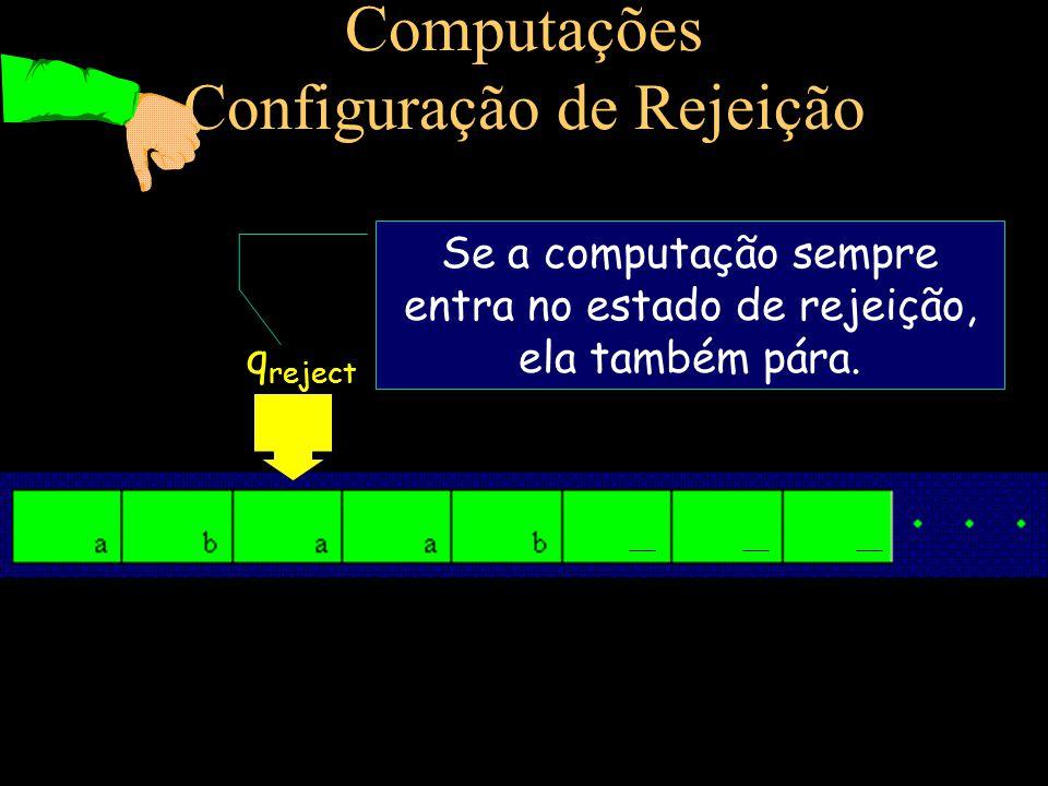 Computações Configuração de Rejeição