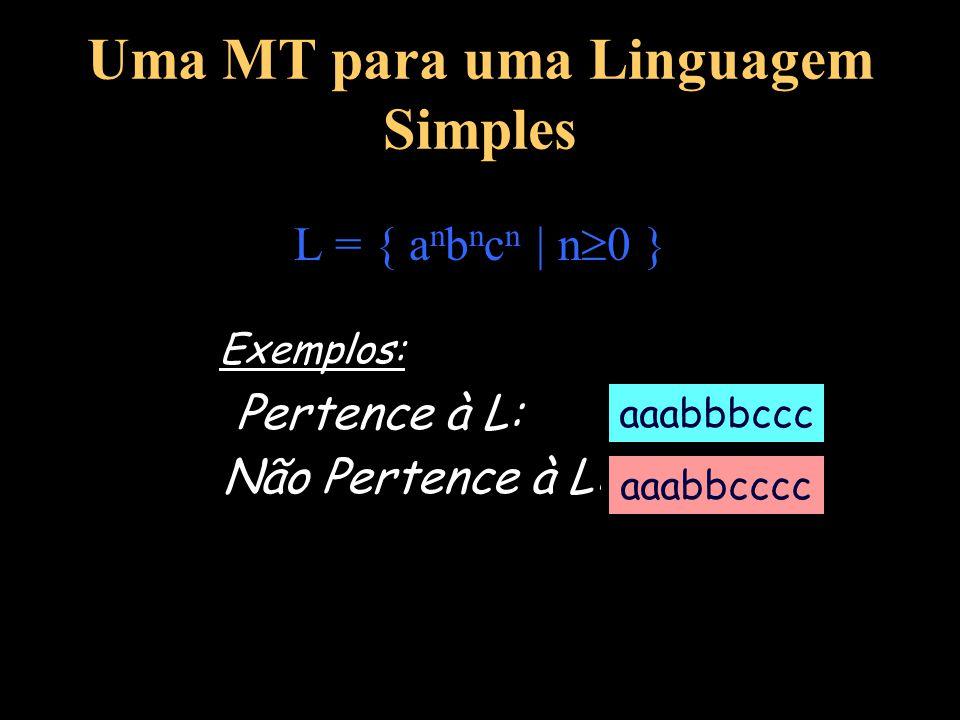 Uma MT para uma Linguagem Simples