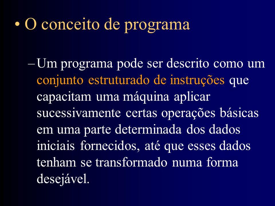 O conceito de programa