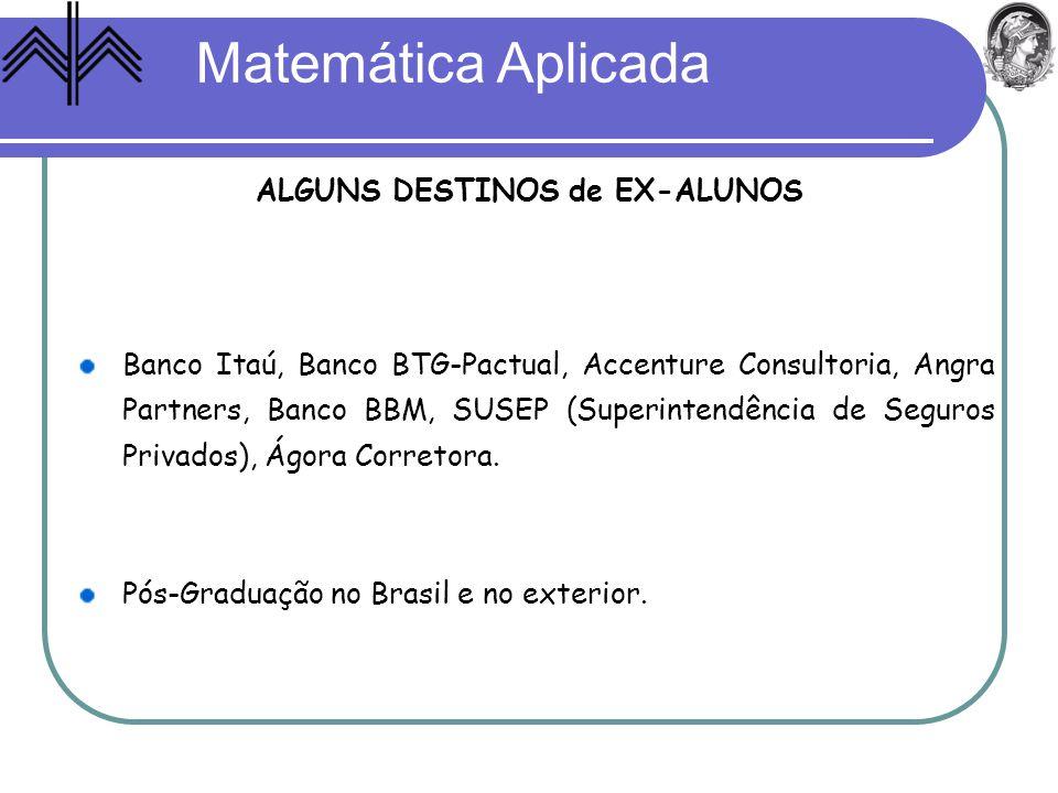 ALGUNS DESTINOS de EX-ALUNOS