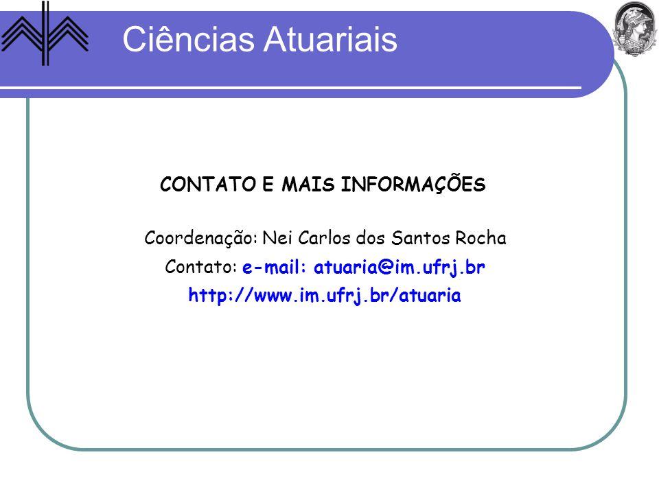 CONTATO E MAIS INFORMAÇÕES