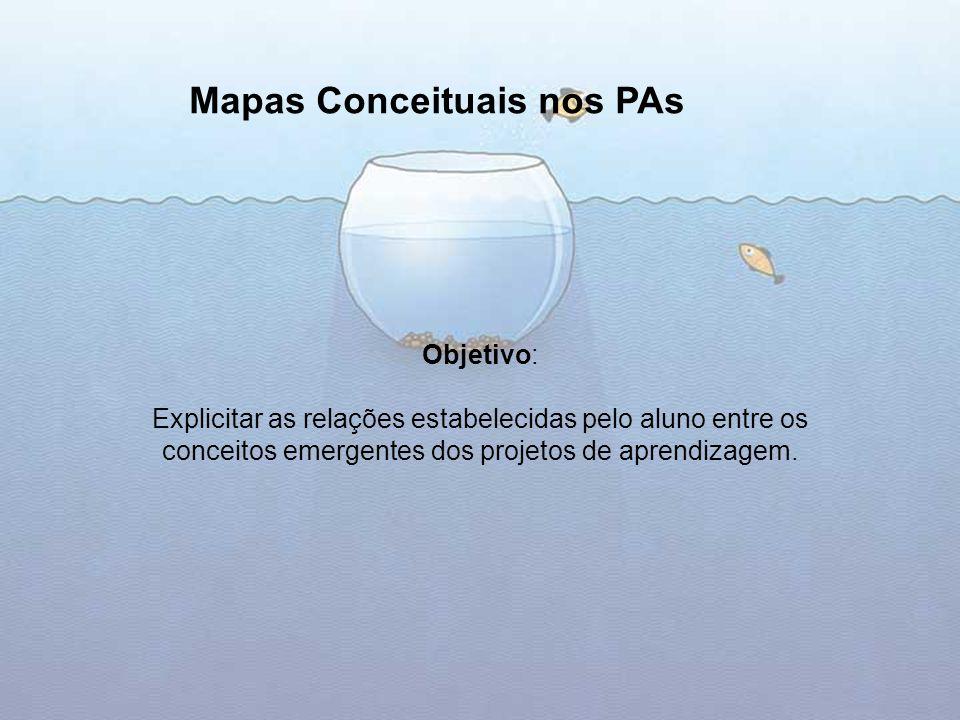 Mapas Conceituais nos PAs