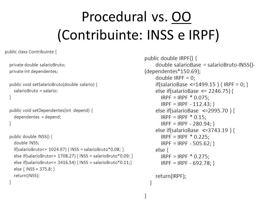 Procedural vs. OO (Contribuinte: INSS e IRPF)