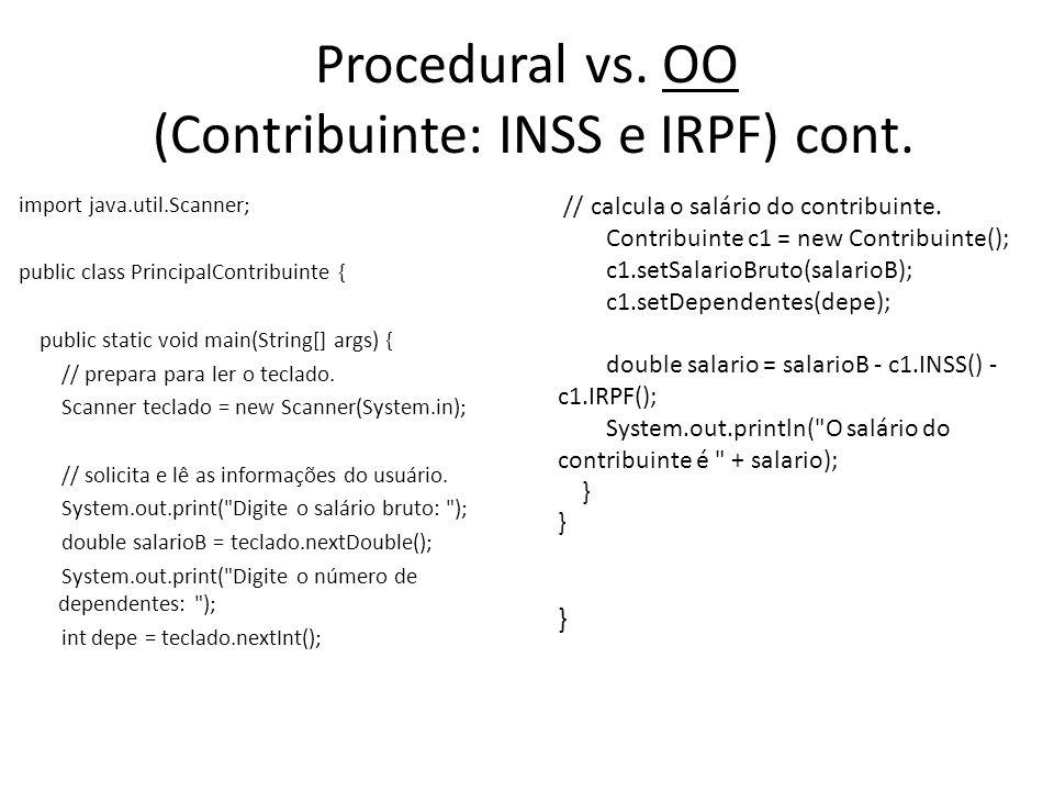 Procedural vs. OO (Contribuinte: INSS e IRPF) cont.