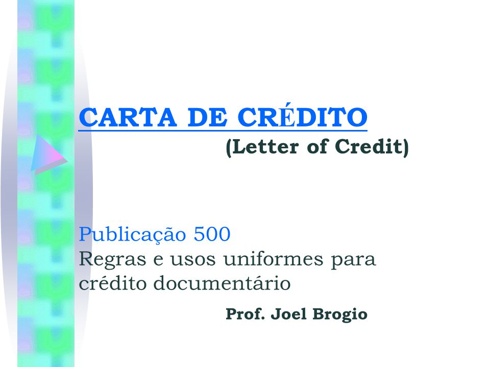 CARTA DE CRÉDITO (Letter of Credit)