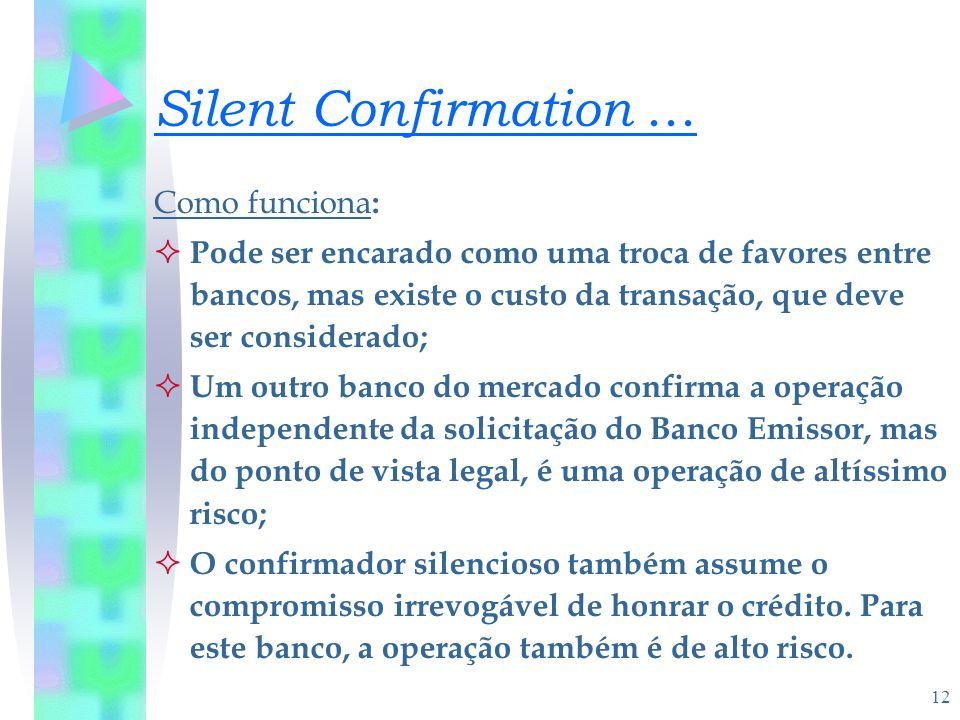 Silent Confirmation ... Como funciona: