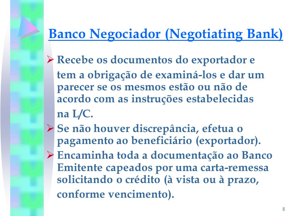 Banco Negociador (Negotiating Bank)