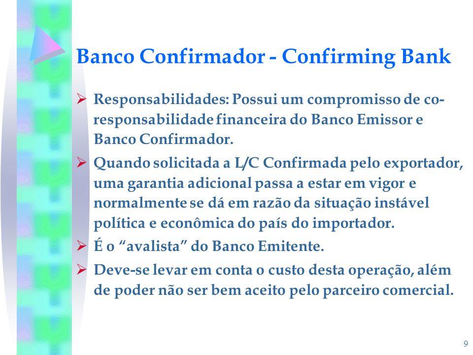 Banco Confirmador - Confirming Bank