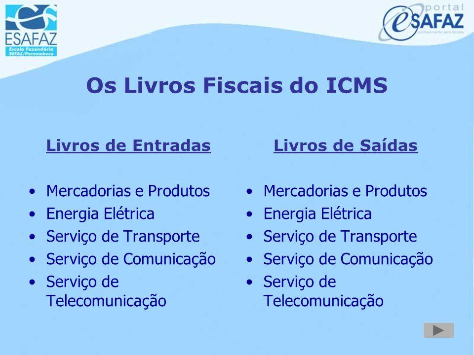 Os Livros Fiscais do ICMS