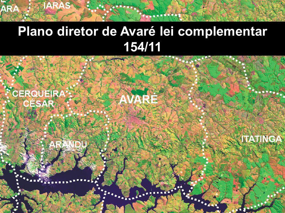Plano diretor de Avaré lei complementar 154/11