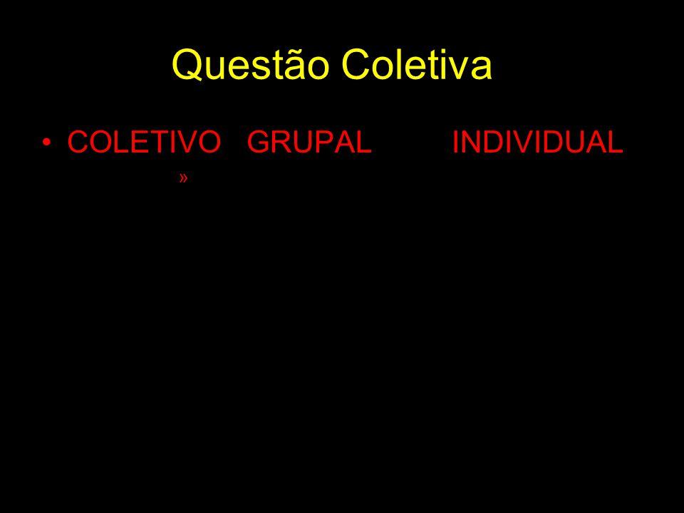 Questão Coletiva COLETIVO GRUPAL INDIVIDUAL