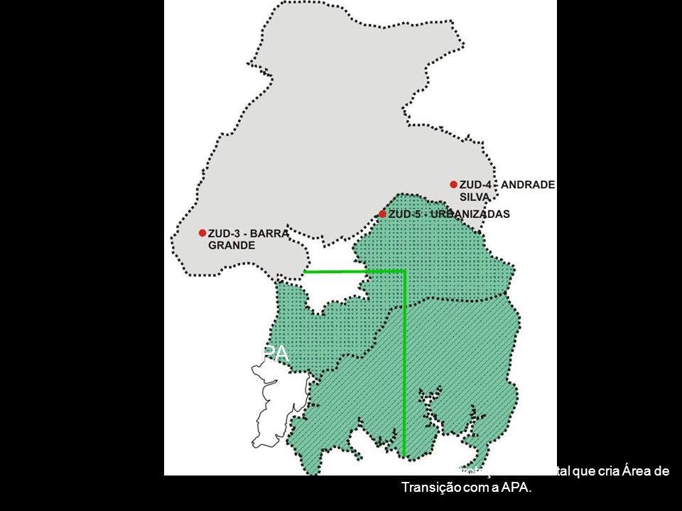 APA Zona de Proteção Ambiental que cria Área de Transição com a APA.