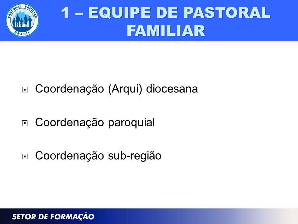 1 – EQUIPE DE PASTORAL FAMILIAR