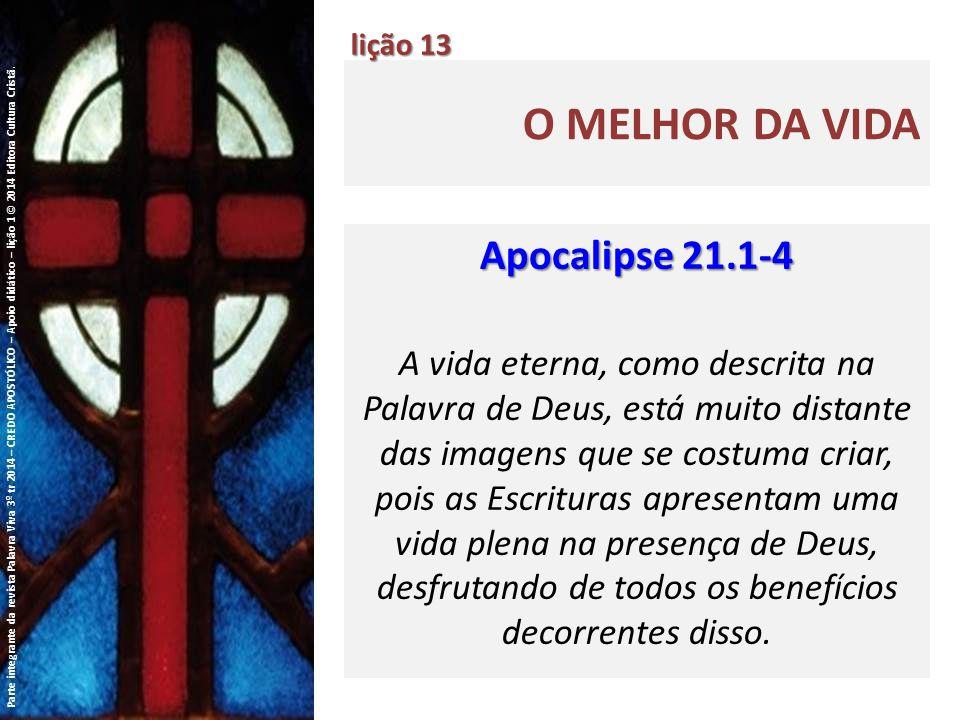 O melhor da vida Apocalipse 21.1-4
