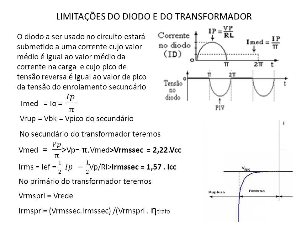 LIMITAÇÕES DO DIODO E DO TRANSFORMADOR