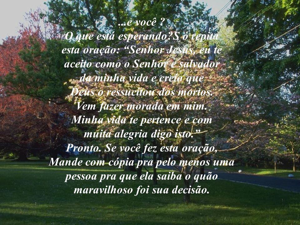 O que está esperando S ó repita esta oração: Senhor Jesus, eu te