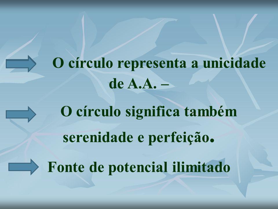 O círculo representa a unicidade de A.A. –