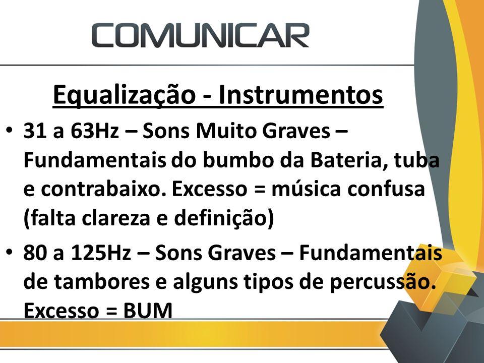 Equalização - Instrumentos