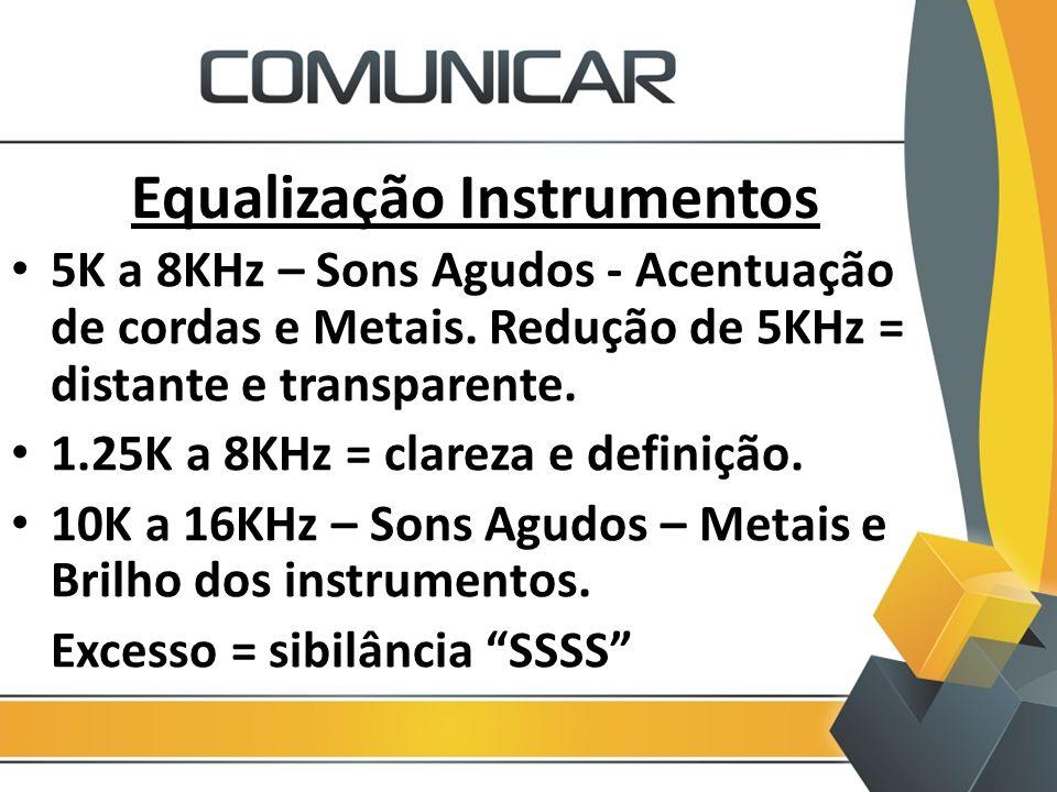 Equalização Instrumentos