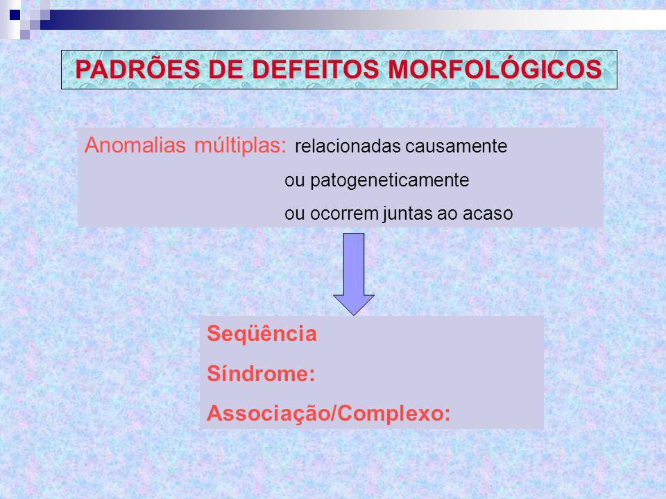 PADRÕES DE DEFEITOS MORFOLÓGICOS
