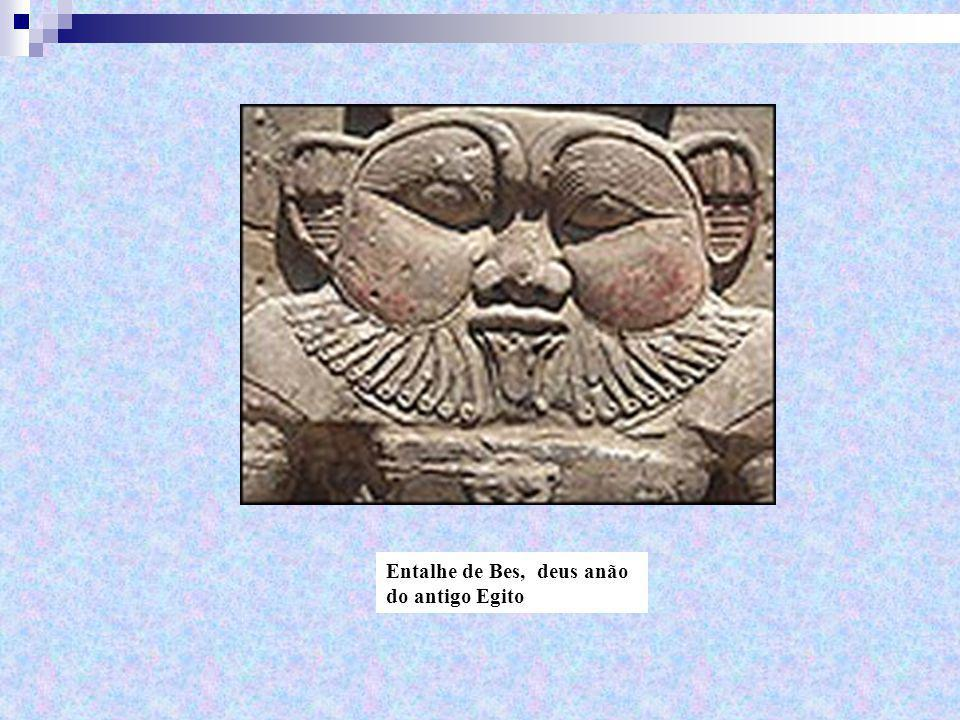 Entalhe de Bes, deus anão do antigo Egito