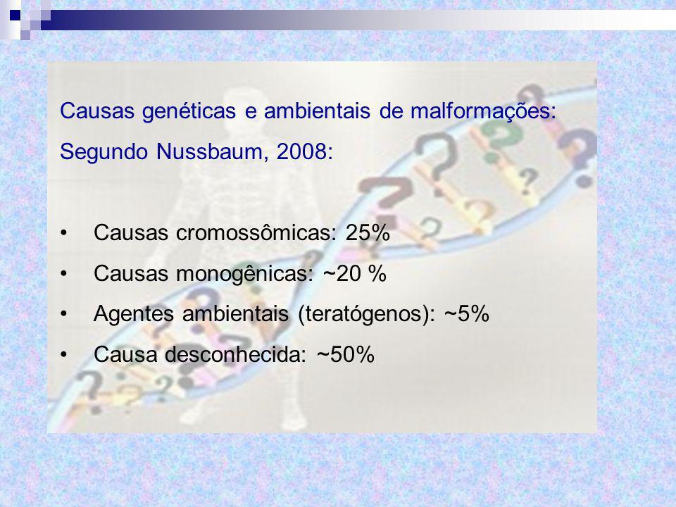 Causas genéticas e ambientais de malformações: